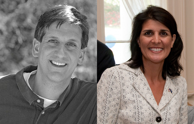 Haley, Sheheen lead in South Carolina