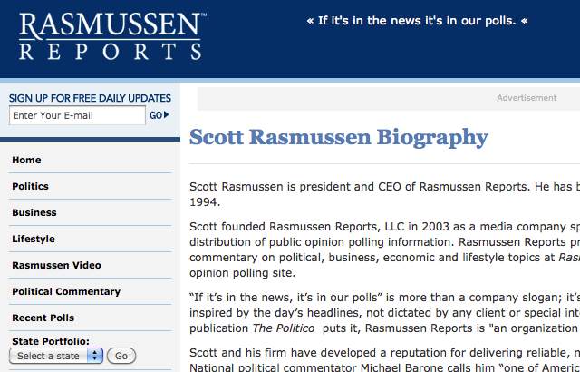 Rasmussen Reports and Scott Rasmussen part ways