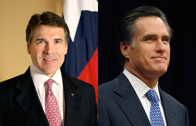 Perry and Romney steady, Cain and Gingrich pass Paul